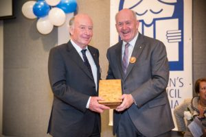 Robert Ingpen is presented with his Lifetime Achievement Award by Governor-General Sir Peter Cosgrove